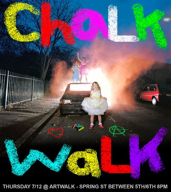 Original Chalk Walk flier, July 12 2012