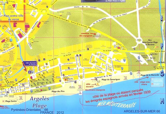 Plan argeles sur mer plage