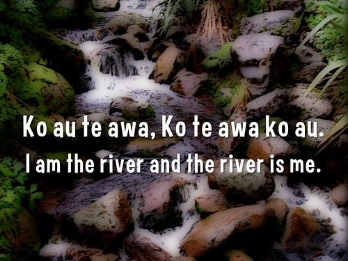 Ko au te awa, Ko te awa ko au = I am the river and the river is me #maori #proverbs #tekupu