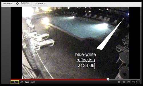 position of tell-tale light flash on frame edge at 34:09 east poolhouse camera
