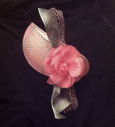 Fascinator with Pink Rose by randubnick