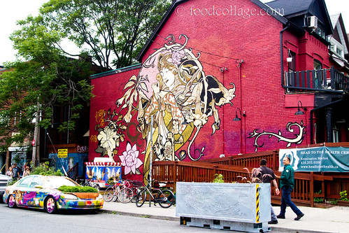 Wall Art and Garden Car in Kensington Market (Toronto)