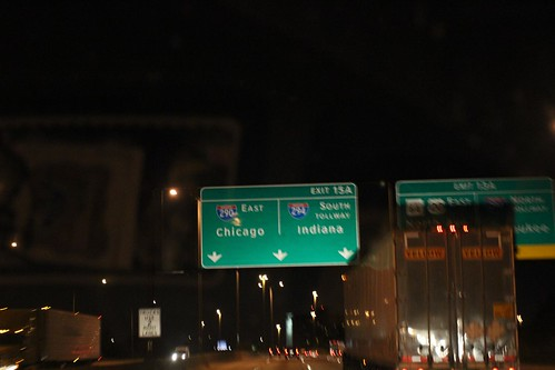 Day 55: Driving through Chicago at Night.