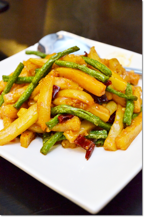 Stir Fried Long Bean with Brinjal