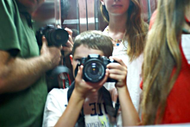 Self-portrait in the Elevator