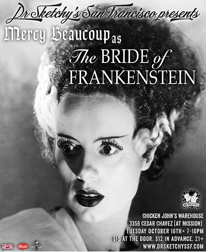 Dr Sketchy's presents Bride of Frankenstein