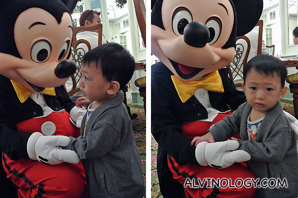 Solo shots of Asher with Mickey