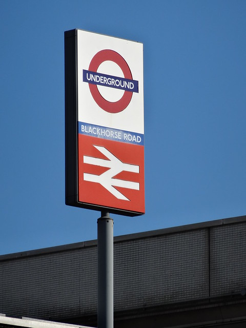 Blackhorse Road Tube And Train Sign