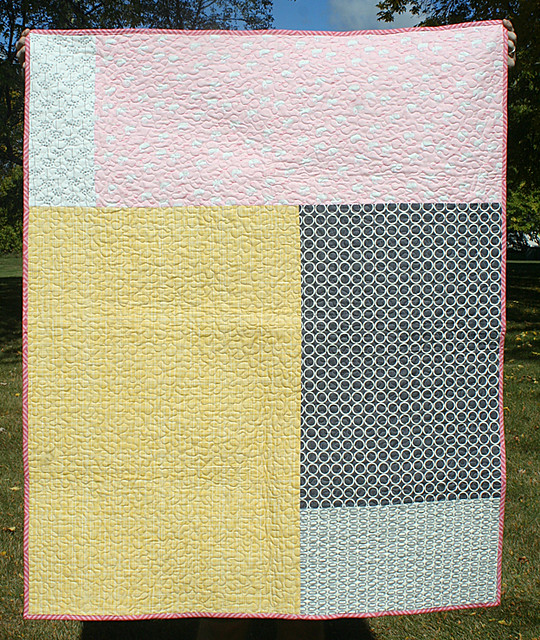 Cartwheels quilt - the back
