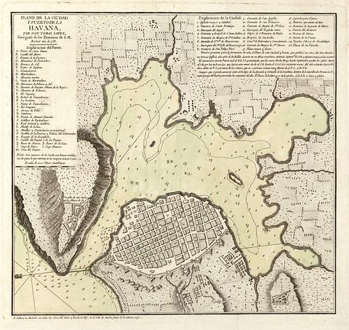 003a-Plano de la ciudad y puerto de la Habana 1785