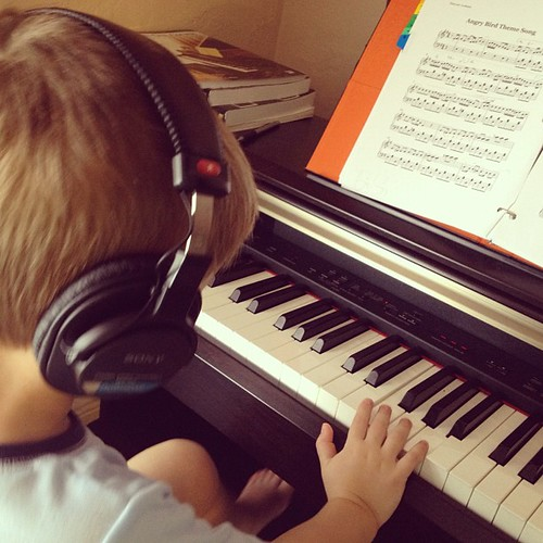 My budding #musician! #piano #music #kids