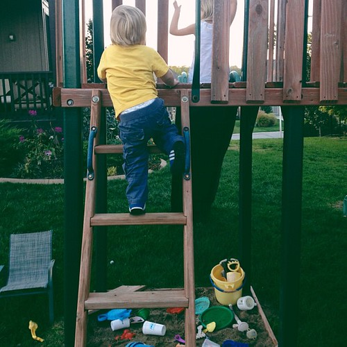 3. This happened today...he climbed to the top by himself. Help! #fmsphotoaday