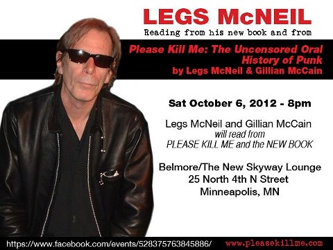 10/06/12 Legs McNeil & Gillian McCain @ Belmore/The New Skyway Lounge, Minneapolis, MN