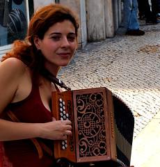Patrícia Pereira y su concertina
