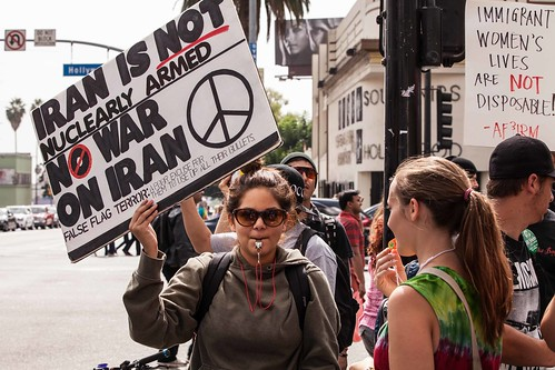 Anti-War Rally in Hollywood, CA