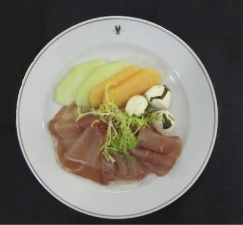Prosciutto with Mozzarella and Melon