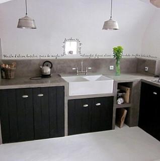 le b ton cir dans la cuisine. Black Bedroom Furniture Sets. Home Design Ideas