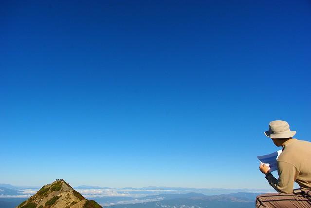 権現岳からの山座同定