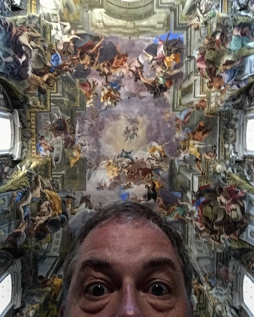 The ceiling of my favorite church