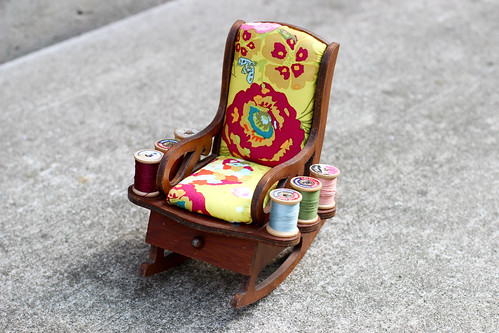 Vintage Rocking Chair Pincushion - After by Jeni Baker