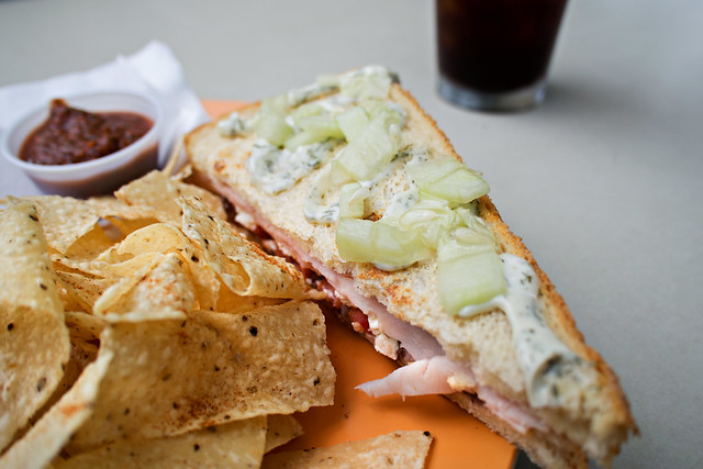 Mediterranean panini @ hot mama's