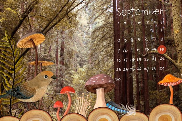 September Desktop Calendar