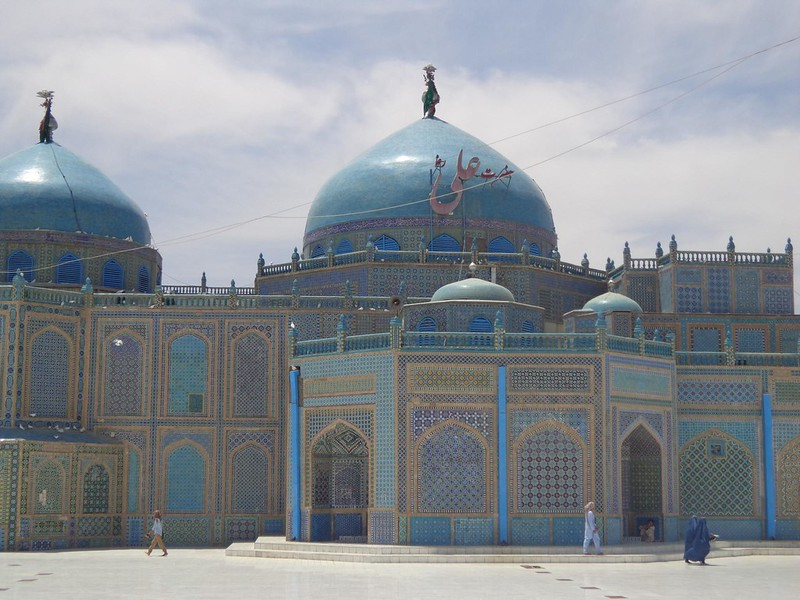 Mesquita Azul em Mazar-e Sharif, Afeganistão