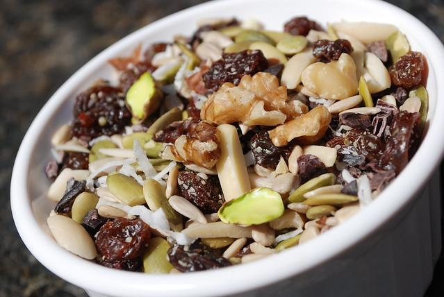 Nutrient-dense trail mix: pumpkin seeds, sunflower seeds, shredded ...