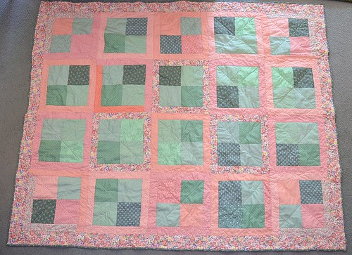 4 patch Quilt by Ann H 83 x 67