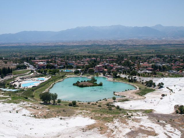 View from Pamukkale mountain