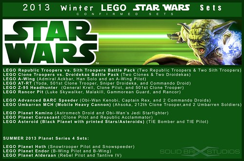 LEGO Winter 2013 Star Wars Sets