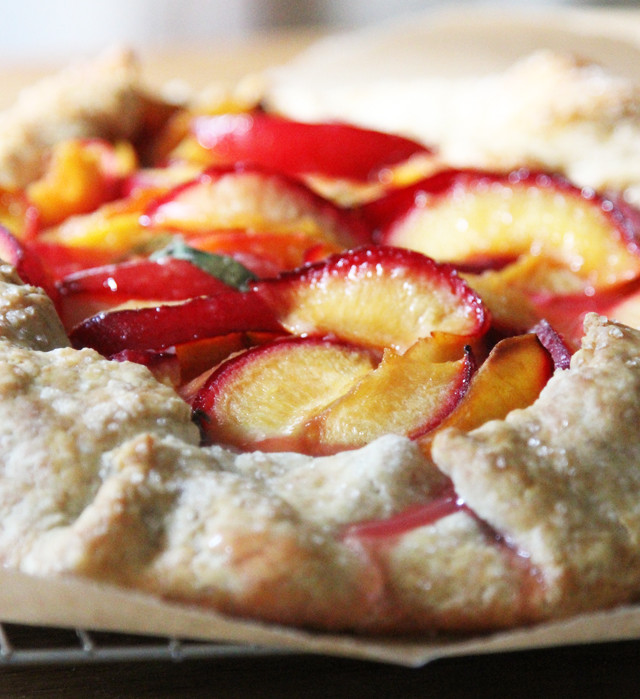 plum crostata cooked