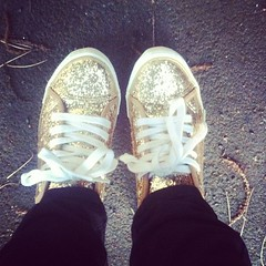 You can't be sad when there's sparkles on your feet