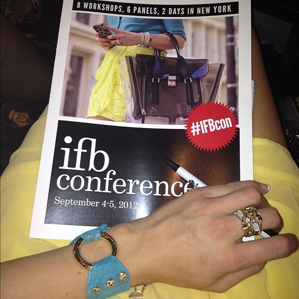 At #IFBCON with my @RubyRoxanneDesigns bracelet and @ExpressStyle ring