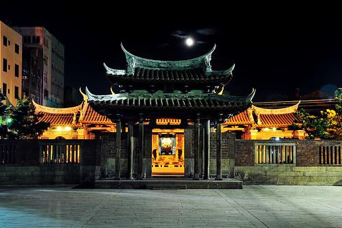 無料写真素材, 建築物・町並み, 宗教施設, 寺院・お寺, 仏教, 夜景, 風景  台湾