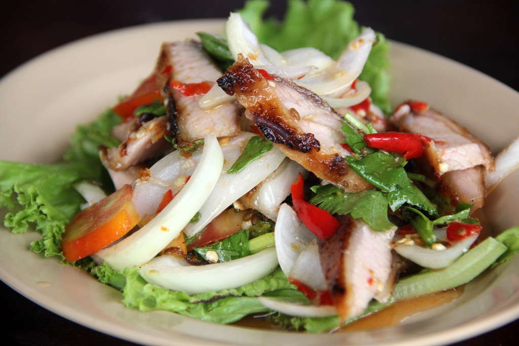 12 13 3 Food Photo: Thai Grilled Pork Neck Salad ...