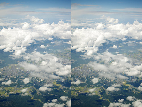 Lake Biwa, stereo parallel view