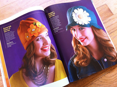 flowering fleece and flapper-inspired hat projects from Stitch!