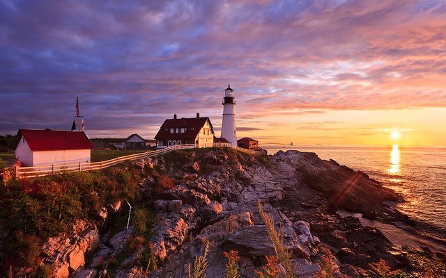 Sunrise At Portland Head Light 2