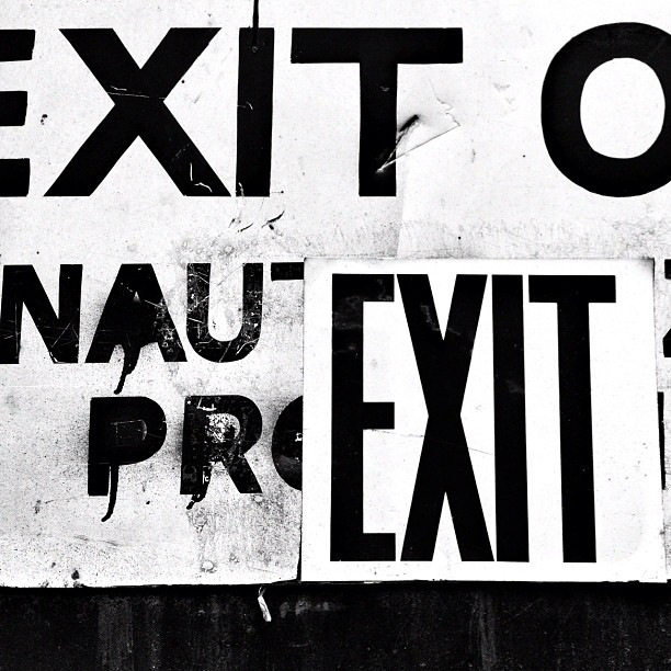 Exit #walkingtoworktoday