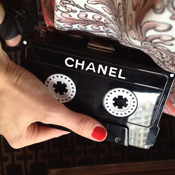 #vintagechanellounge tape clutch @shopedropoff #nyfw