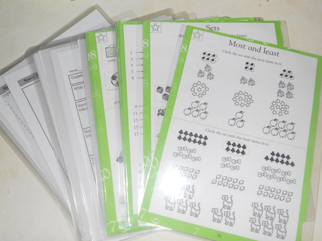 Laminated Worksheets