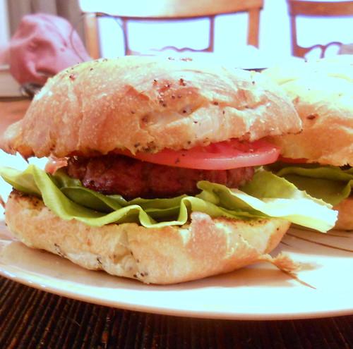 Smoky Bacon Bison Burgers