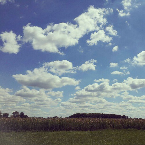 One of the reasons I love the Midwest, endless clouds to the horizon.