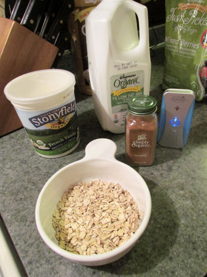 Standard Overnight Oat Ingredients