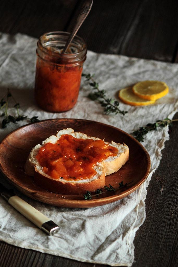 Peach Bourbon Thyme Jam