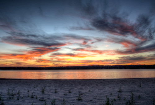 sunset over Mccullom Lake