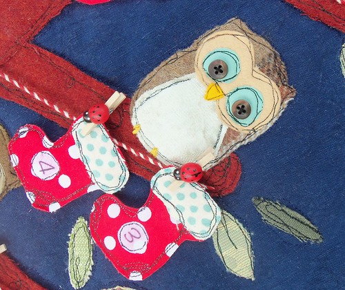 Baby Owls Advent Calendar (detail)
