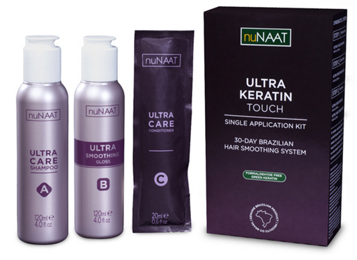 Review nuNAAT Ultra Keratin Touch pictures hair Brazilian smooth at-home system