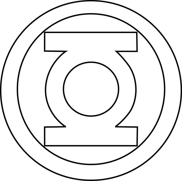 green lantern symbol outline photo3 - Green Lantern Logo Coloring Pages